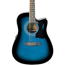 V70CE Acoustic-Electric Guitar Transparent Blue