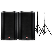 VARI 2300 Series Powered Speakers Package with Speaker Stands 15