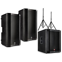 VARI 4000 Series Powered Speakers Package with V2318S Subwoofer and Stands 15
