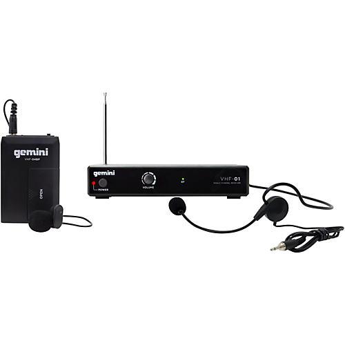 open box gemini vhf 01hl single headset lavalier wireless system band c8 guitar center. Black Bedroom Furniture Sets. Home Design Ideas