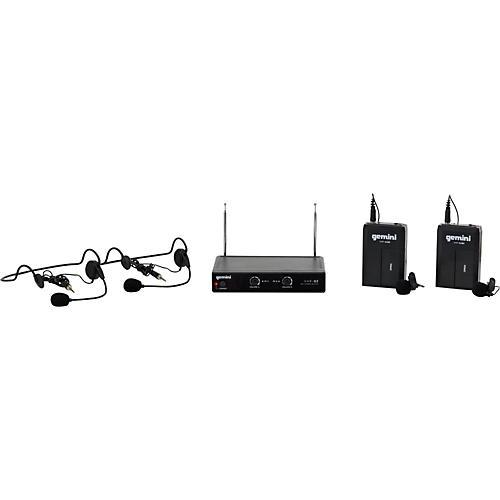 Gemini VHF-02HL Dual Channel VHF Lavalier Wireless Headset System