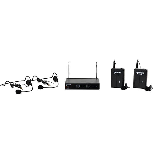 Gemini VHF-02HL Dual Channel VHF Lavalier Wireless Headset System