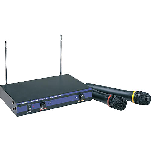 vocopro vhf 3000 dual channel wireless mic system guitar center. Black Bedroom Furniture Sets. Home Design Ideas