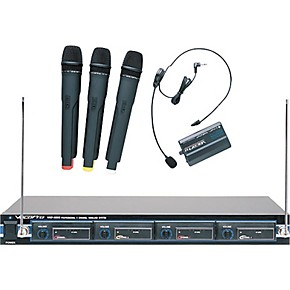 vocopro vhf 4800 4 channel vhf wireless microphone system guitar center. Black Bedroom Furniture Sets. Home Design Ideas