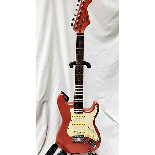used sx vintage series solid body electric guitar pink sparkle guitar center. Black Bedroom Furniture Sets. Home Design Ideas