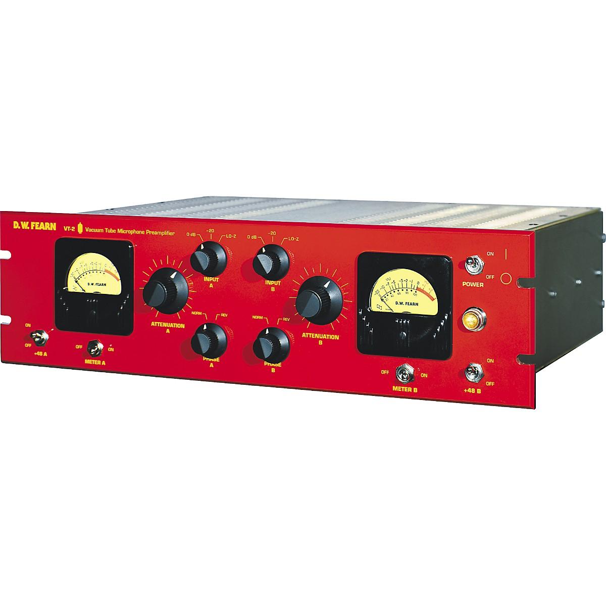 D.W. Fearn VT-2 Dual Channel Vacuum Tube Microphone Preamplifier