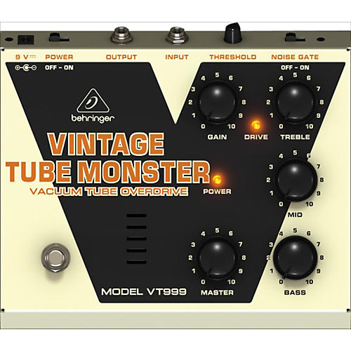 Behringer VT999 Vintage Tube Monster Classic Tube Overdrive Guitar Effects Pedal
