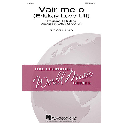 Hal Leonard Vair Me O TTB arranged by Emily Crocker