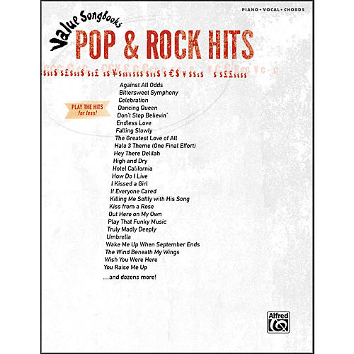 Hal Leonard Value Songbooks Pop & Rock Hits Piano/Vocal/Chords