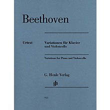 G. Henle Verlag Variations for Piano and Violoncello Henle Music by Beethoven Edited by Jens Dufner