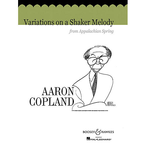 Boosey and Hawkes Variations on a Shaker Melody from Appalachian Spring Concert Band Composed by Aaron Copland