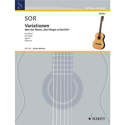 Schott Variations on a Theme of Mozart, Op. 9 (Guitar Solo) Schott Series