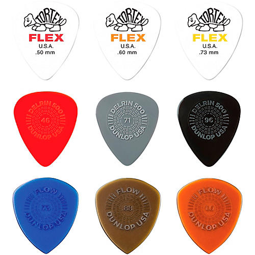 Dunlop Variety Flex/Flow/Prime Grip Pick Pack LT/MD-18
