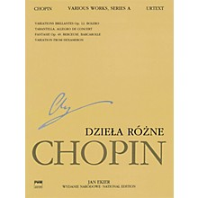 PWM Various Works for Piano, Series A (Chopin National Edition 12A, Volume XII) PWM Series Softcover