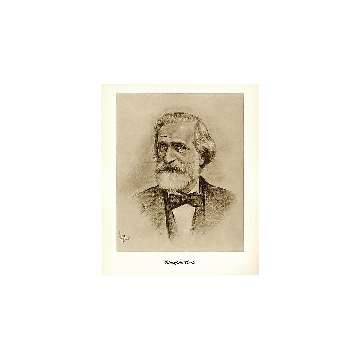 Hal Leonard Verdi (Lupas Small Portrait Poster) Music Sales America Series