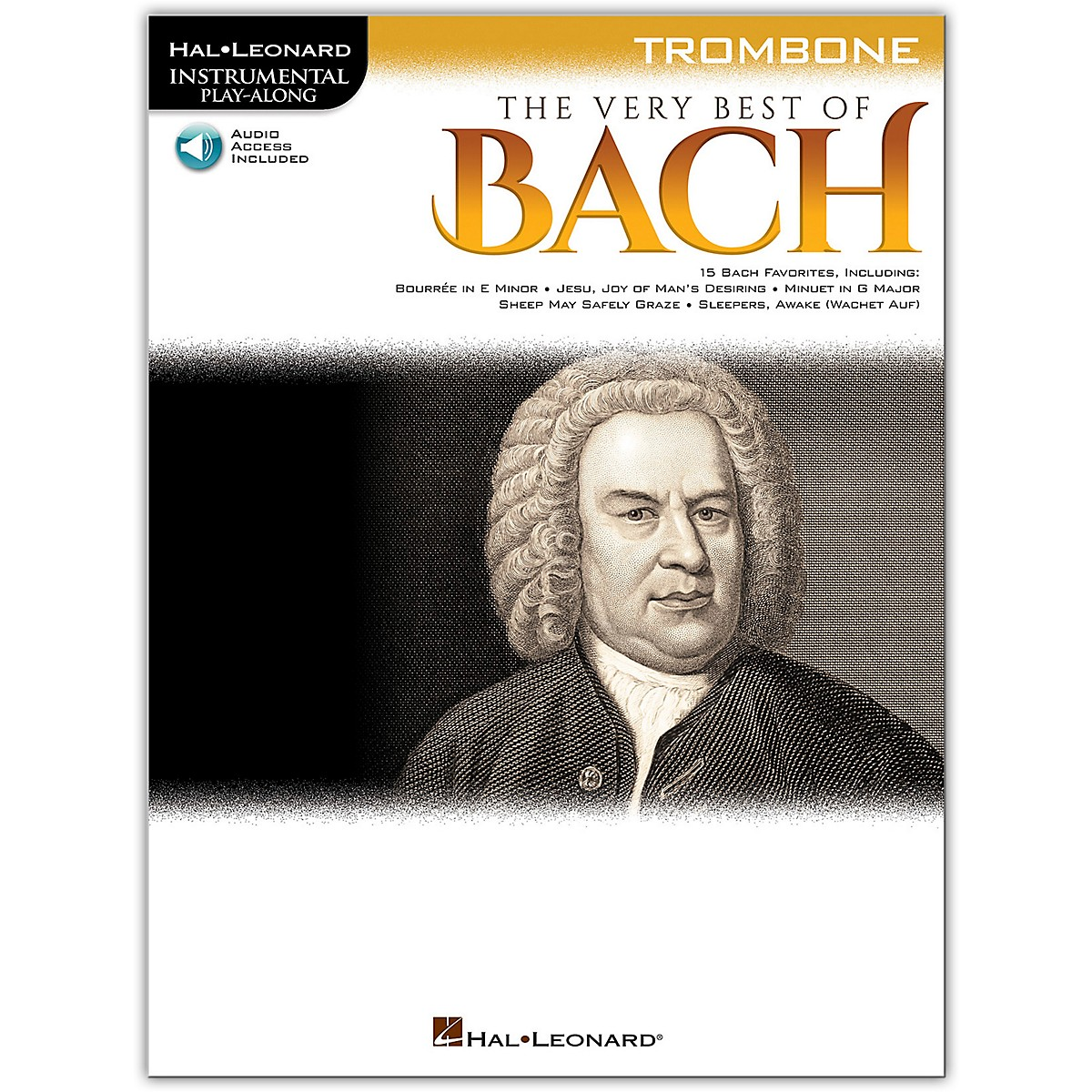 Hal Leonard Very Best of Bach for Trombone - Instrumental Play-Along Book/Audio Online