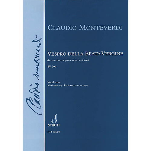 Schott Vespro della Beata Vergine (Vocal Score) Composed by Claudio Monteverdi Arranged by Jerome Roche