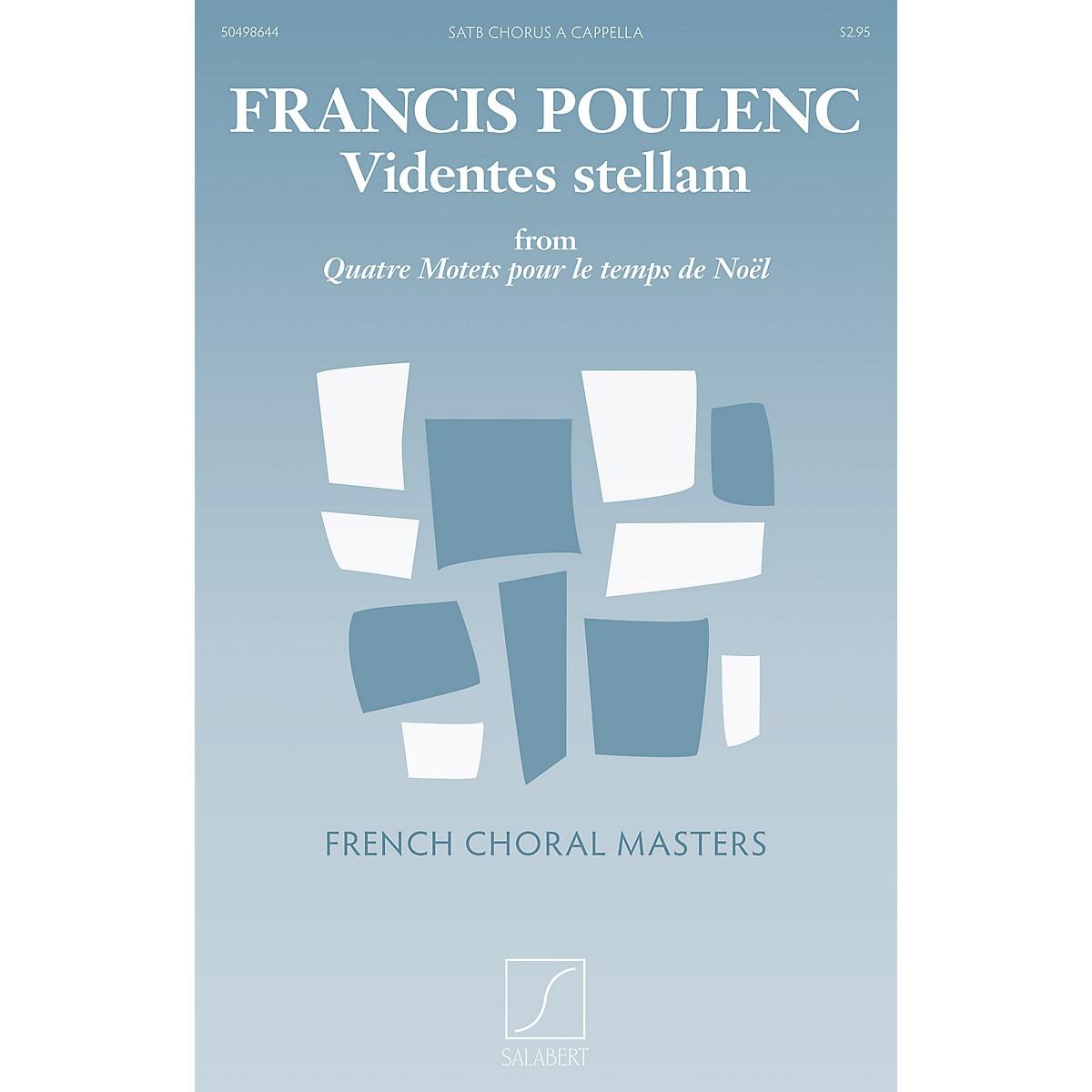 Salabert Videntes stellam (from Quatre motets pour le temps de Noël) SATB a cappella Composed by Francis Poulenc