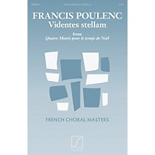 Salabert Videntes stellam (from Quatre motets pour le temps de Noël) SATB a cappella Composed by Francis Poulenc