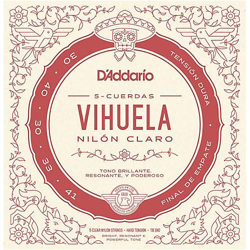 D'Addario Vihuela 5 String Set, Clear Nylon, Hard Tension