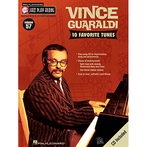 Hal Leonard Vince Guaraldi (Jazz Play-Along Volume 57) Jazz Play Along Series Softcover with CD by Vince Guaraldi