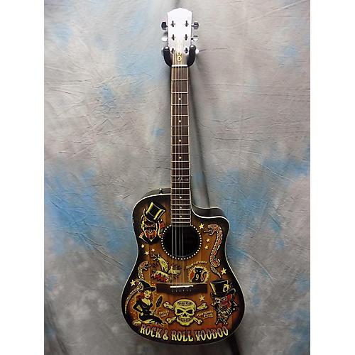 used fender vince ray voodoo acoustic electric guitar guitar center. Black Bedroom Furniture Sets. Home Design Ideas
