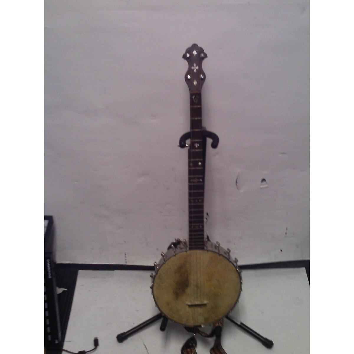 In Store Vintage Vintage 1920s Rex 1920s 5 String Banjo Brown Banjo