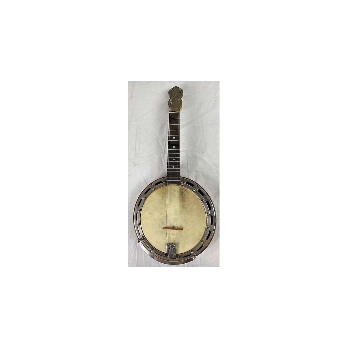 In Store Vintage Vintage 1920s WENDELL HALL PROFESSIONAL Natural Banjo