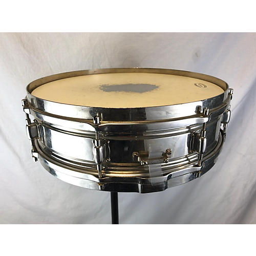In Store Vintage Vintage 1929 Leady 4X14 Chrome Over Brass Snare Drum Drum Chrome