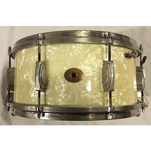 In Store Vintage Vintage 1930s 1930s Ludwig 6.5X14 Standard Snare Drum White Marine Pearl