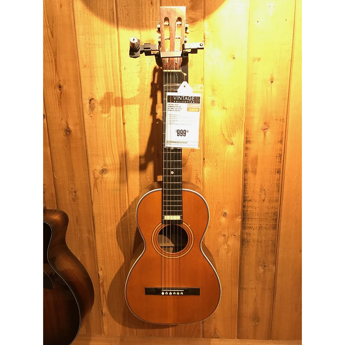 In Store Vintage Vintage 1930s Harwood Parlor Natural Classical Acoustic Guitar