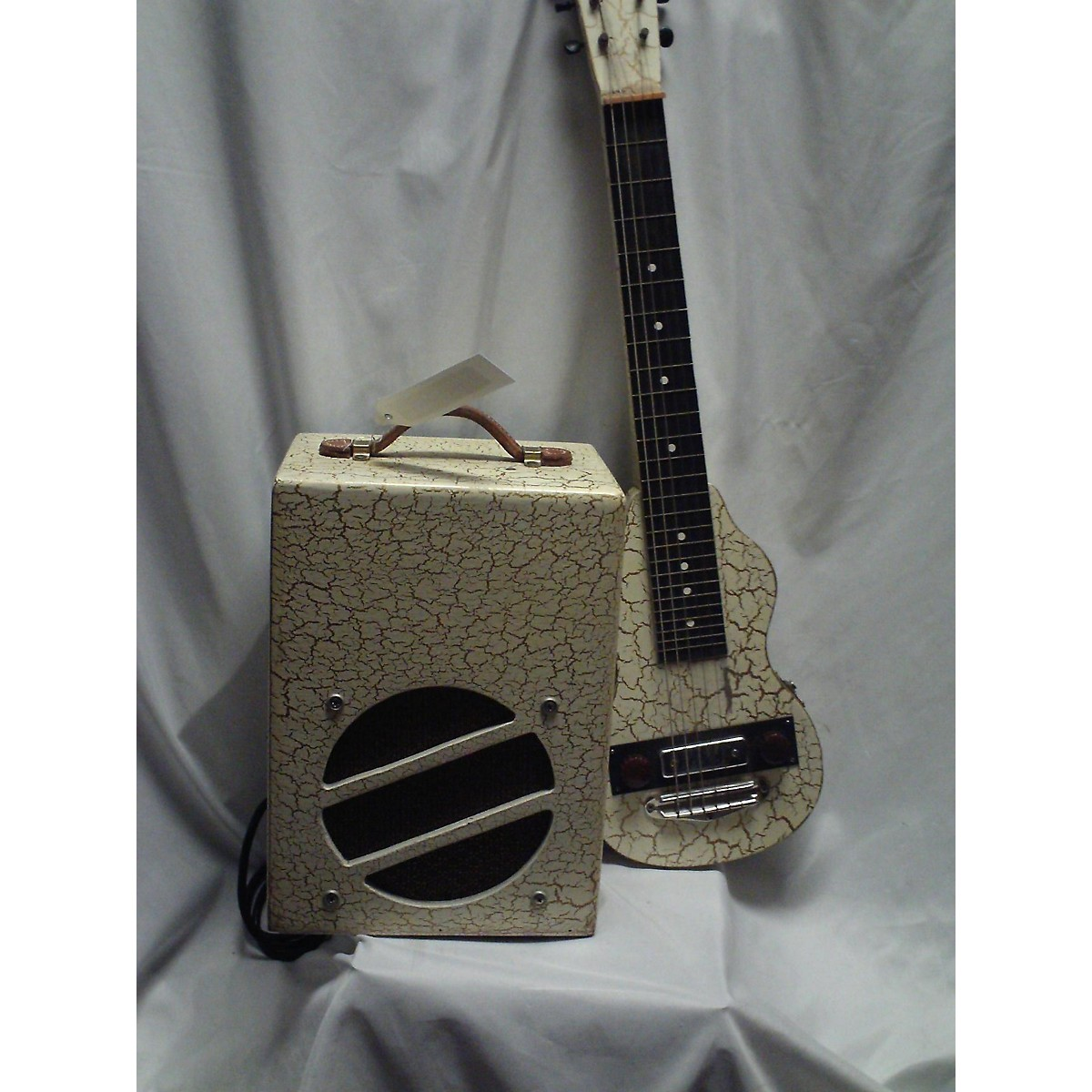 In Store Vintage Vintage 1940s EPITOME LAP STEEL WHITE CRACKLE FINISH Solid Body Electric Guitar