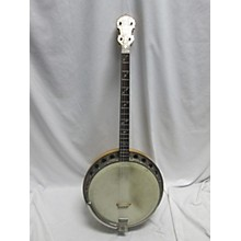Vintage 1940s Will Lange Paramount Style A Tenor Natural Banjo