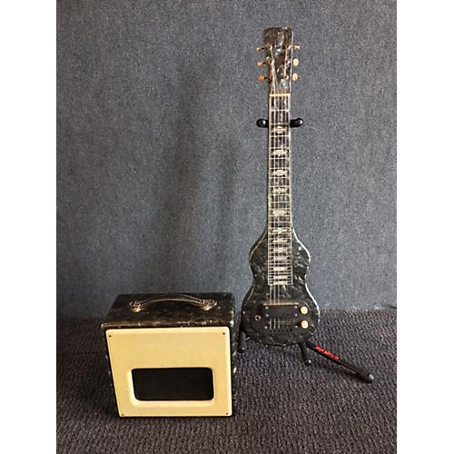 In Store Vintage Vintage 1950s 1950's Valco Lap Steel & Amp Set Grey VALCO GRAY METALLIC MARBLE Solid Body Electric Guitar