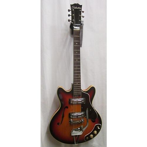 In Store Vintage Vintage 1960s 1960s Silvertone 1456 Sunburst Hollow Body Electric Guitar