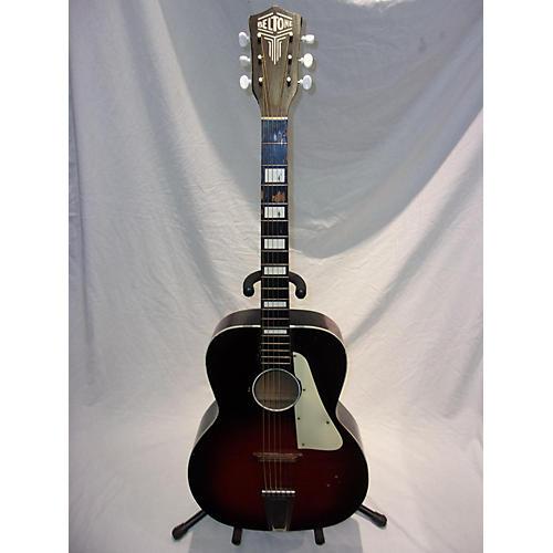 In Store Vintage Vintage 1960s Belton Student Folk 2 Tone Sunburst Acoustic Guitar