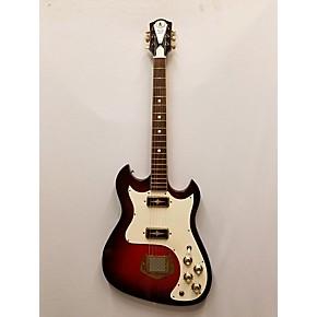 vintage 1960s custom kraft 2 pickup red solid body electric guitar red guitar center. Black Bedroom Furniture Sets. Home Design Ideas