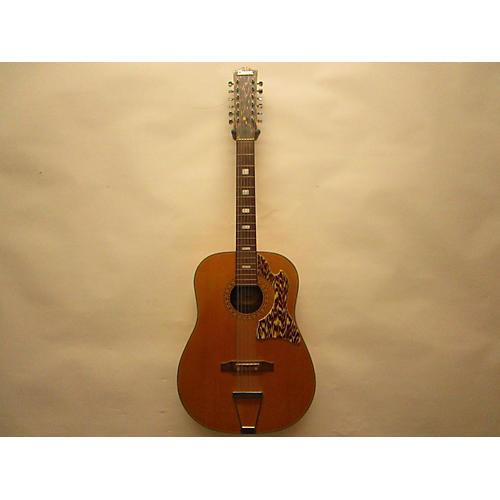 In Store Vintage Vintage 1960s Decca 12S Natural 12 String Acoustic Guitar