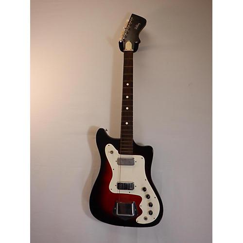 In Store Vintage Vintage 1960s Holiday Vanguard 2PU 2 Color Sunburst Solid Body Electric Guitar
