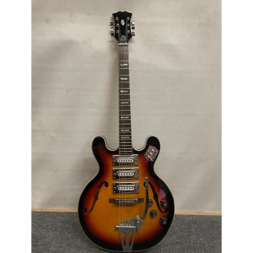 In Store Vintage Vintage 1960s MIJ 3pu Hollowbody 2 Color Sunburst Hollow Body Electric Guitar