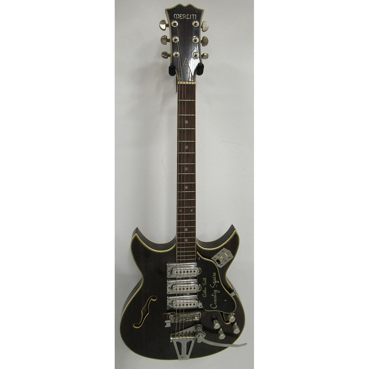 In Store Vintage Vintage 1960s Merlin Arthur Smith Country Squire Walnut Hollow Body Electric Guitar