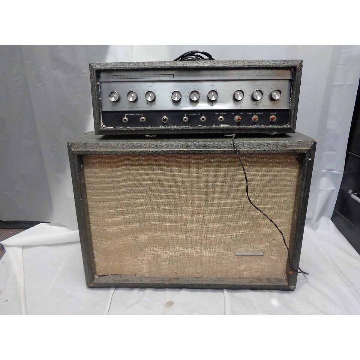 In Store Vintage Vintage 1960s Sears Silvertone Twin Twelve Stack Tube Guitar Amp Head
