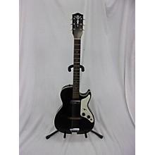 Vintage 1963 ALDEN STRATOTONE 1PU Black Solid Body Electric Guitar