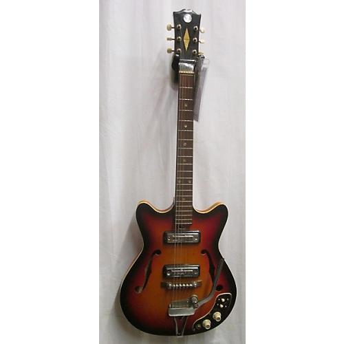 In Store Vintage Vintage 1970s 1970s Silvertone 1456 Sunburst Hollow Body Electric Guitar