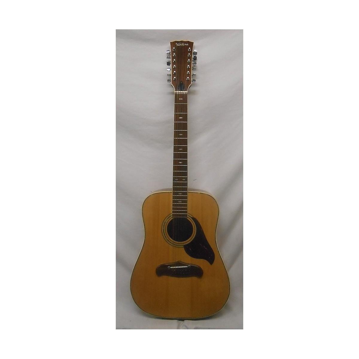 In Store Vintage Vintage 1970s 1970s Ventura V-16 MIJ 12-String Acoustic OHSC Natural 12 String Acoustic Guitar