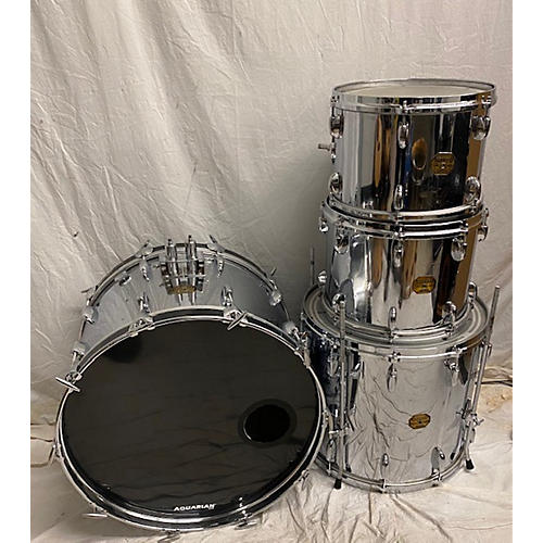 In Store Vintage Vintage 1970s Gretsch 4 piece Broadkaster II 4pc Kit Chrome Drum Kit