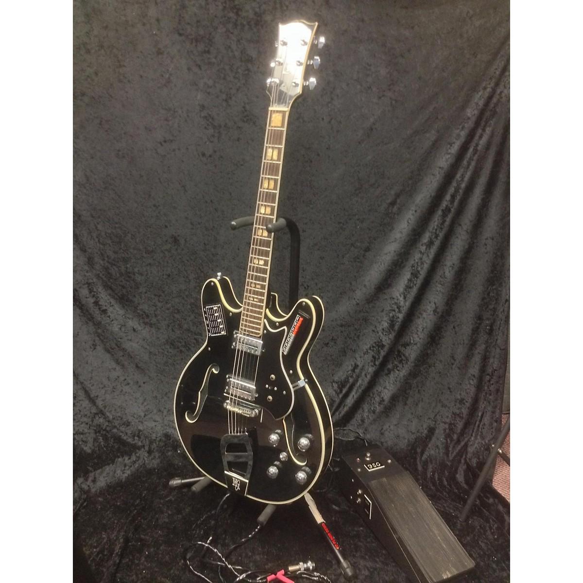 In Store Vintage Vintage 1970s MCI Guitorgan B-300 Black Hollow Body Electric Guitar