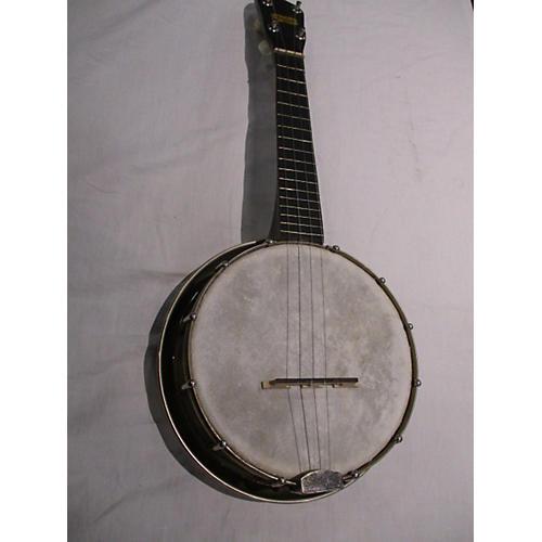 In Store Vintage Vintage 1970s Maxitone Banjolele Natural Ukulele