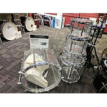 Vintage 1970s Zickos 5 piece 5 Peice Acrylic Drums Clear/acrylic Drum Kit