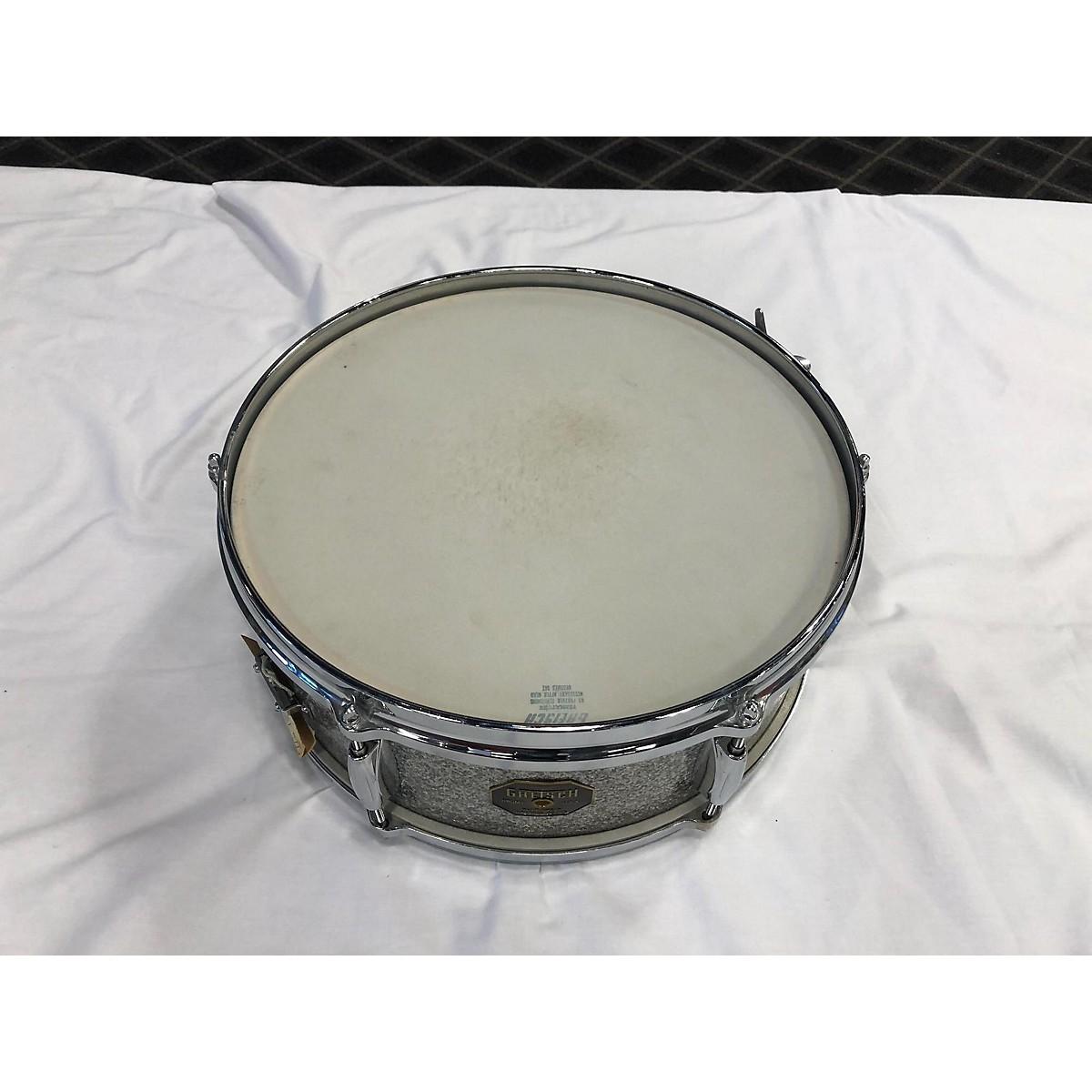 In Store Vintage Vintage 1971 Gretsch 5.5X14 415-7 Sparkling Silver Snare Drum Sparkling Silver